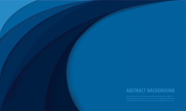 Fondo azul curva