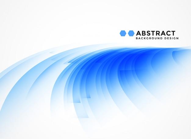 Fondo azul con curvas abstracto de la forma