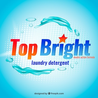 Fondo azul de detergente líquido