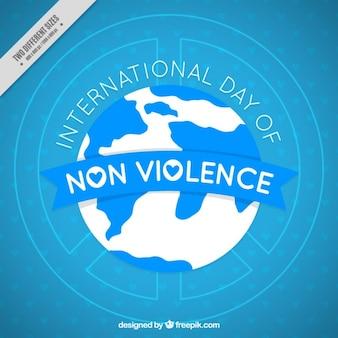 Fondo azul del día internacional de la no violencia