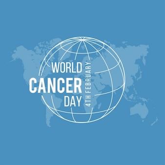 Fondo azul, día mundial del cancer