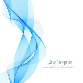 Fondo azul elegante abstracto del diseño de la onda