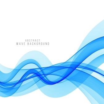 Fondo azul con estilo moderno de la onda