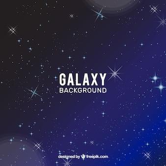Fondo azul de estrellas