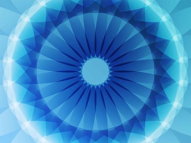 Fondo azul flor geométrica