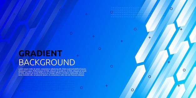 Fondo azul geométrico degradado abstracto