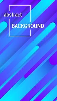 Fondo azul geométrico de moda con líneas abstractas. diseño de banner de historias. patrón dinámico futurista. ilustración vectorial