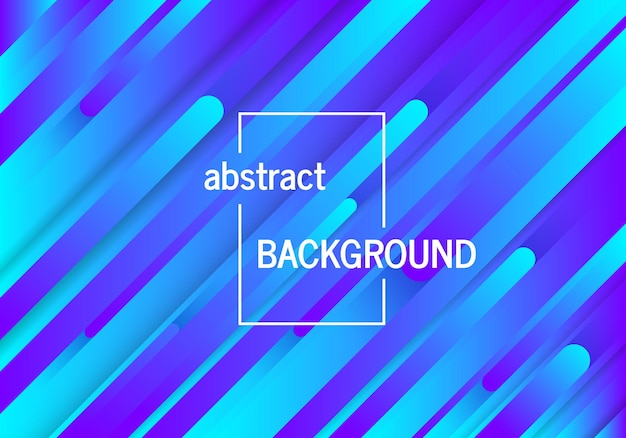 Fondo azul geométrico de moda con líneas abstractas. diseño de patrón dinámico futurista. ilustración vectorial