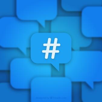 Fondo azul de hashtag
