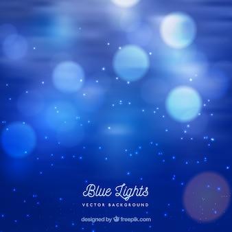 Fondo azul de luces
