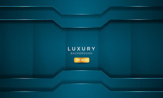 Fondo azul de lujo con estilo de metal sólido.