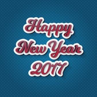 Fondo azul de lunares de feliz año nuevo 2017