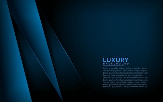 Fondo azul marino moderno con forma abstracta