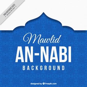 Fondo azul de mawlid an nabi