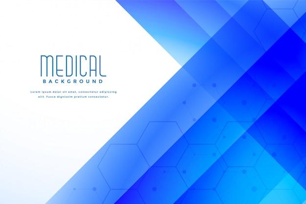 Fondo azul médico abstracto de la salud