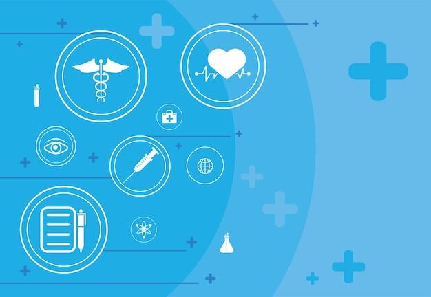 Fondo azul médico