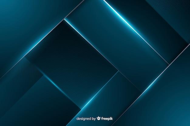 Fondo azul metálico brillante abstracto
