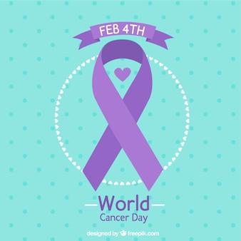 Fondo azul y morado para el día mundial contra el cáncer
