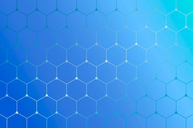 Fondo azul con motivos geométricos de panal