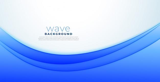 Fondo azul de la onda de la presentación del estilo del negocio