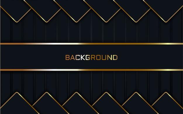 Fondo azul oscuro abstracto en línea oro