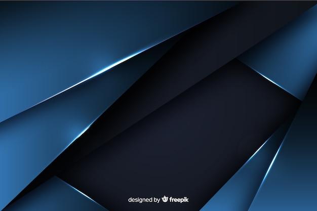 Fondo azul oscuro con efecto metalizado.