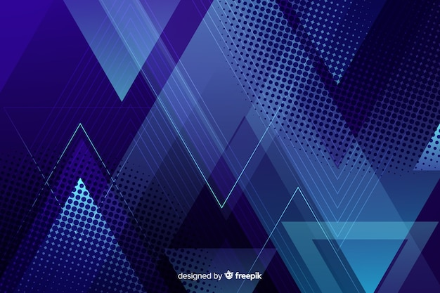 Fondo azul oscuro de formas geométricas