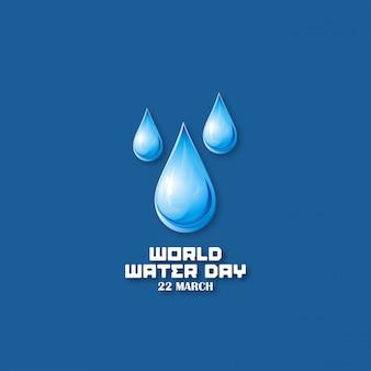 Fondo azul oscuro con gotas para el día mundial del agua