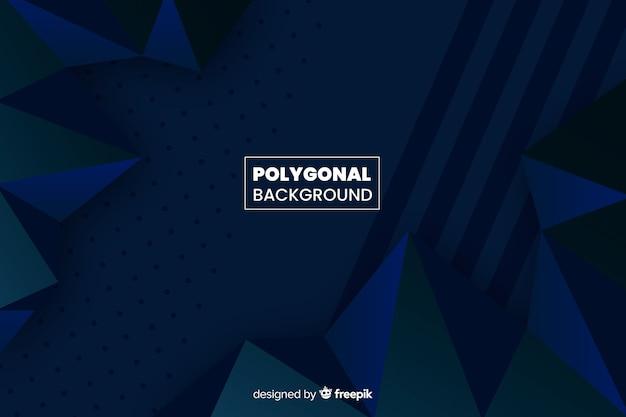 Fondo azul oscuro poligonal