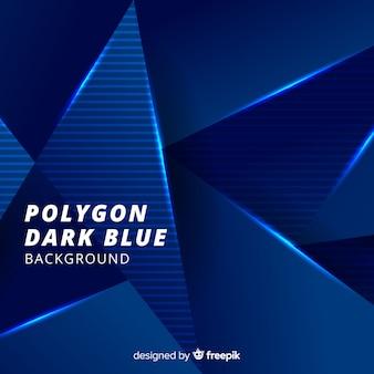 Fondo azul oscuro de polígonos tridimensionales