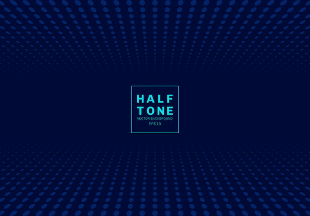 Fondo azul de semitono de punto de luz abstracta