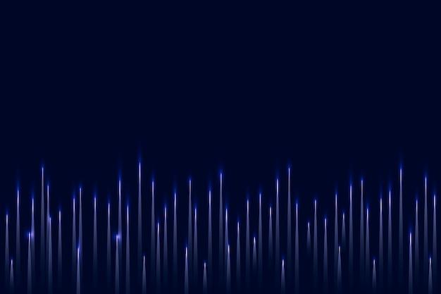 Fondo azul de tecnología de ecualizador de música con onda de sonido digital