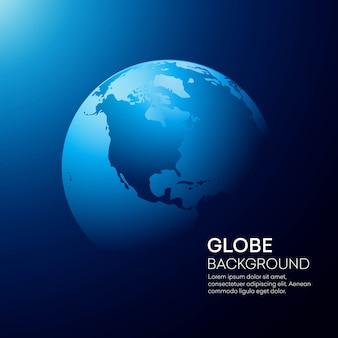 Fondo azul de la tierra del globo