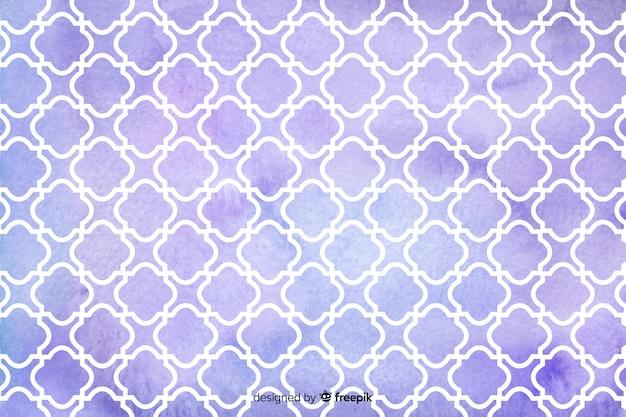 Fondo de azulejos violeta mosaico acuarela