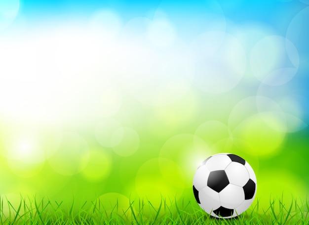 Fondo con balón de fútbol.