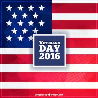 Fondo con la bandera americana para celebrar el día de los veteranos