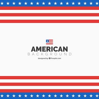 Fondo de la bandera americana en diseño plano