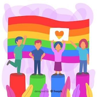 Fondo de bandera del arcoíris del día del orgullo lgbt