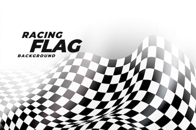 Fondo de bandera de carreras en damas en blanco y negro