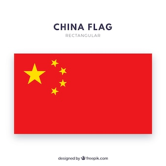 Fondo de bandera china