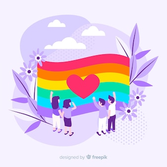 Fondo de bandera colorida del día del orgullo lgbt