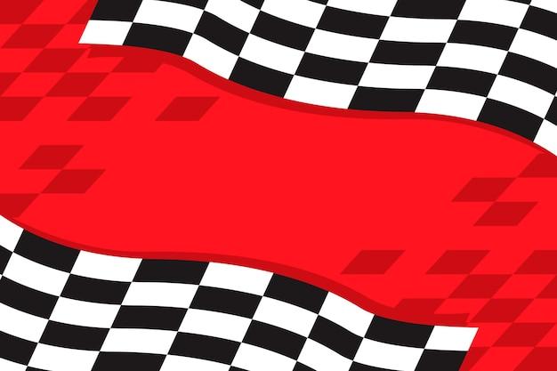 Fondo de bandera a cuadros de carreras planas