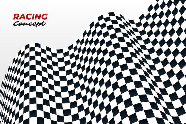 Fondo de bandera a cuadros de carreras realista