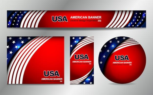 Fondo de la bandera de estados unidos para el día de la independencia