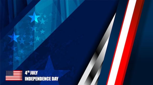 Fondo de la bandera estadounidense para el día de la independencia