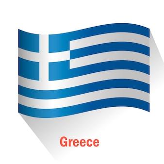 Fondo con bandera de grecia