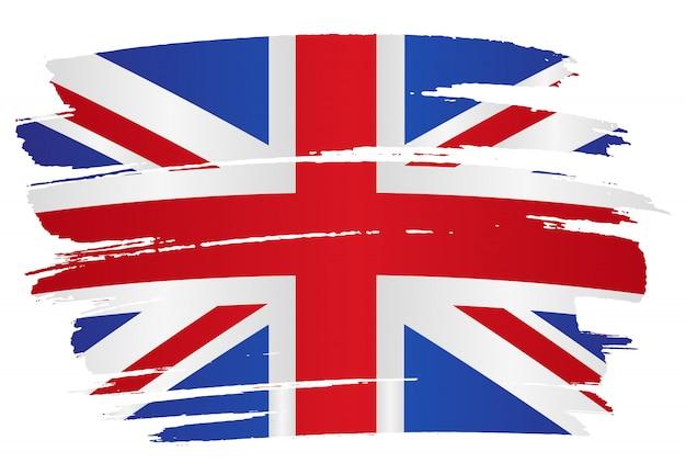Fondo de bandera de grunge de reino unido