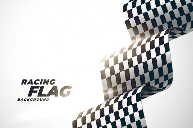 Fondo de bandera ondulada de carreras 3d