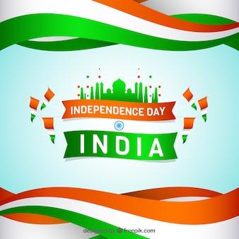 Fondo de banderas del día de la independencia de india