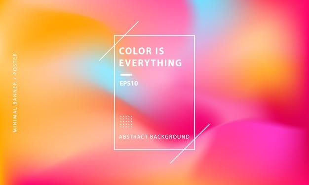 Fondo de banner abstracto colorido mínimo